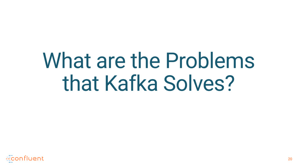 20 What are the Problems that Kafka Solves?
