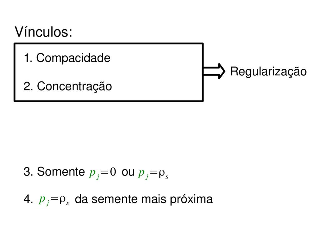 Regularização 4. da semente mais próxima p j =ρ...