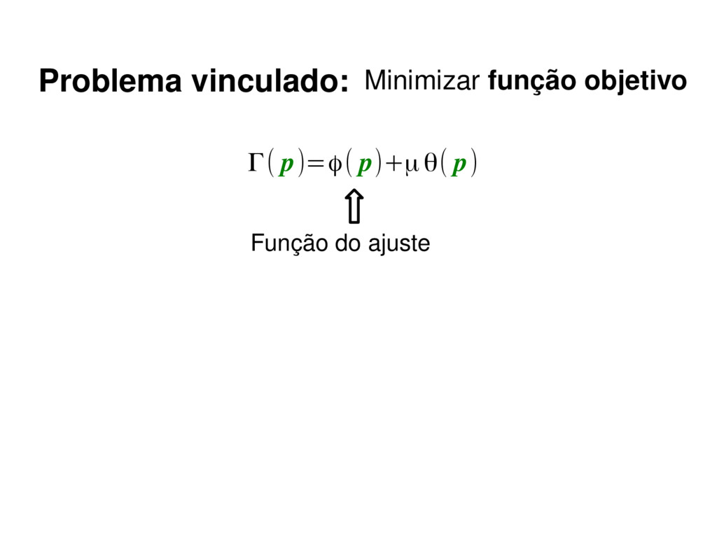 Γ( p)=ϕ( p)+μθ( p) Função do ajuste Problema vi...