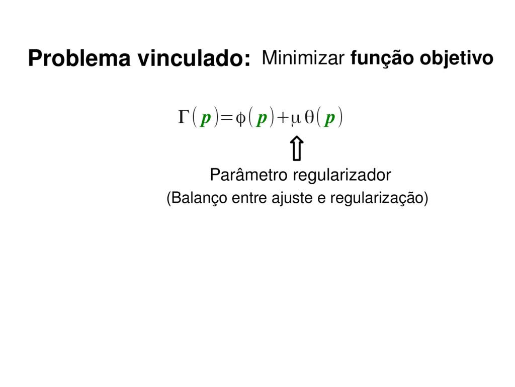 Γ( p)=ϕ( p)+μθ( p) (Balanço entre ajuste e regu...