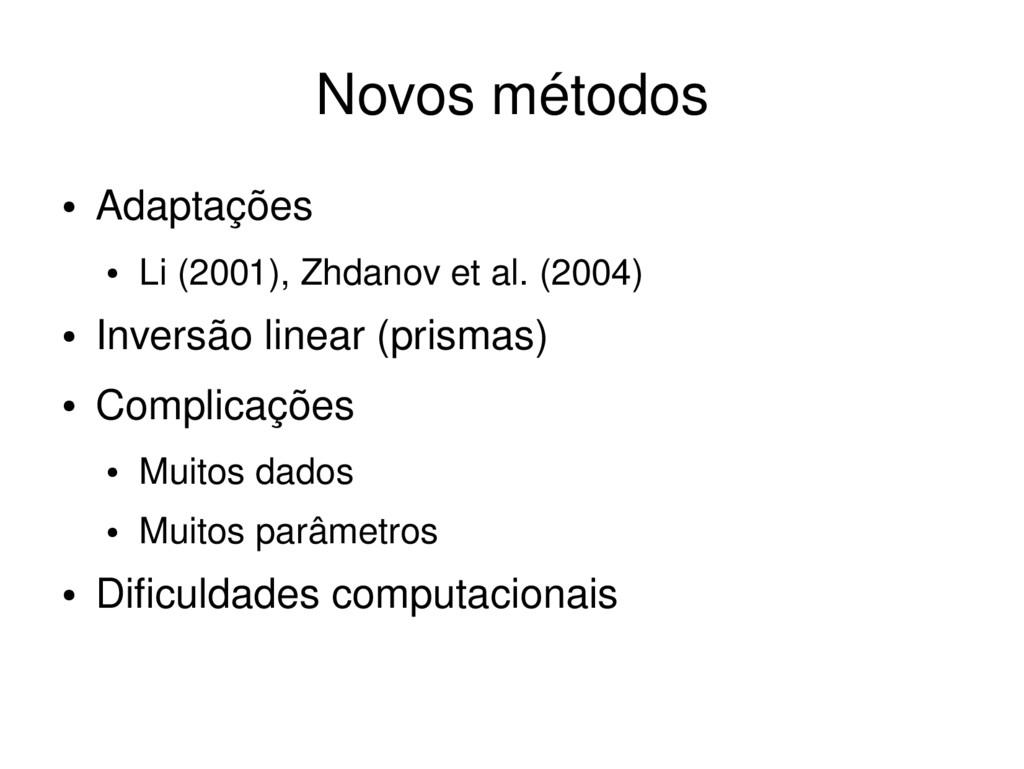 ● Adaptações ● Li (2001), Zhdanov et al. (2004)...
