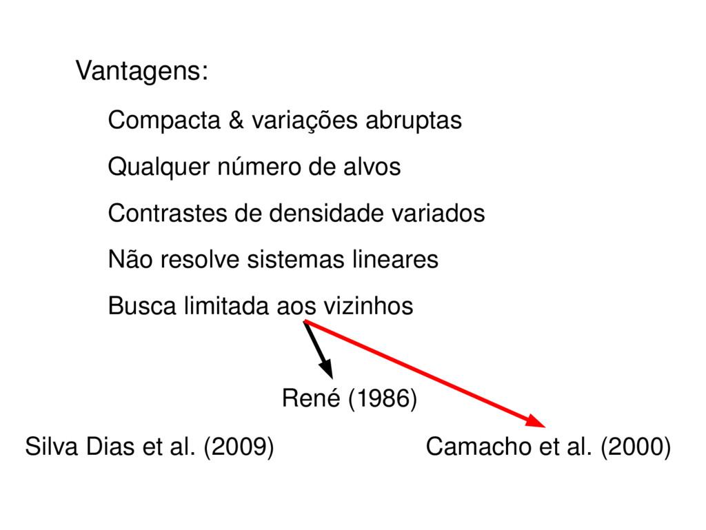 Vantagens: Compacta & variações abruptas Qualqu...