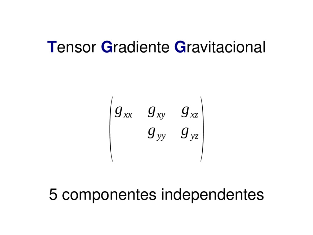 Tensor Gradiente Gravitacional (g xx g xy g xz ...
