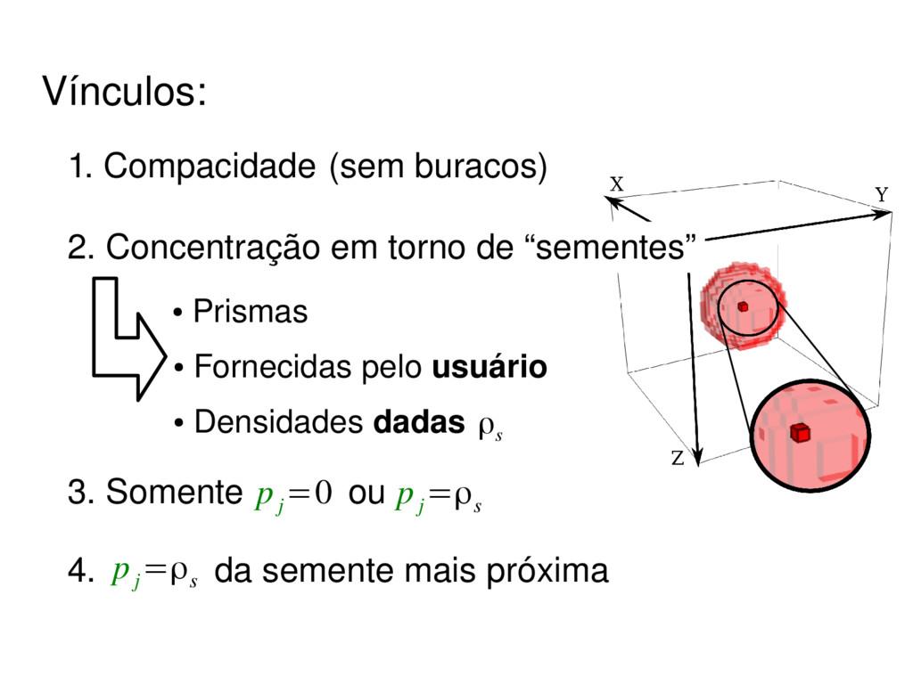 4. da semente mais próxima p j =ρs ● Prismas ● ...