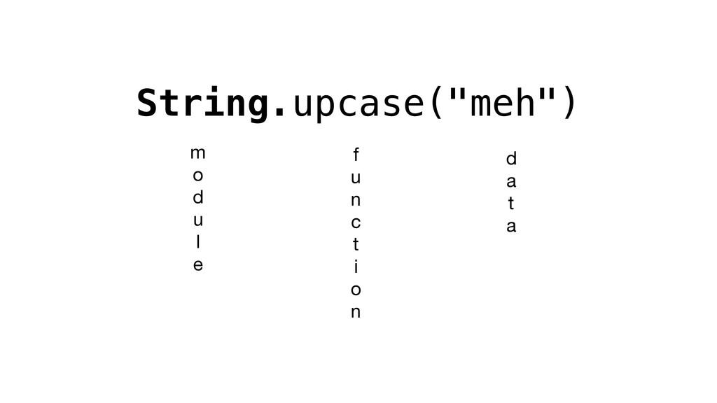 """String.upcase(""""meh"""") m  o  d  u  l  e f  u  n  ..."""