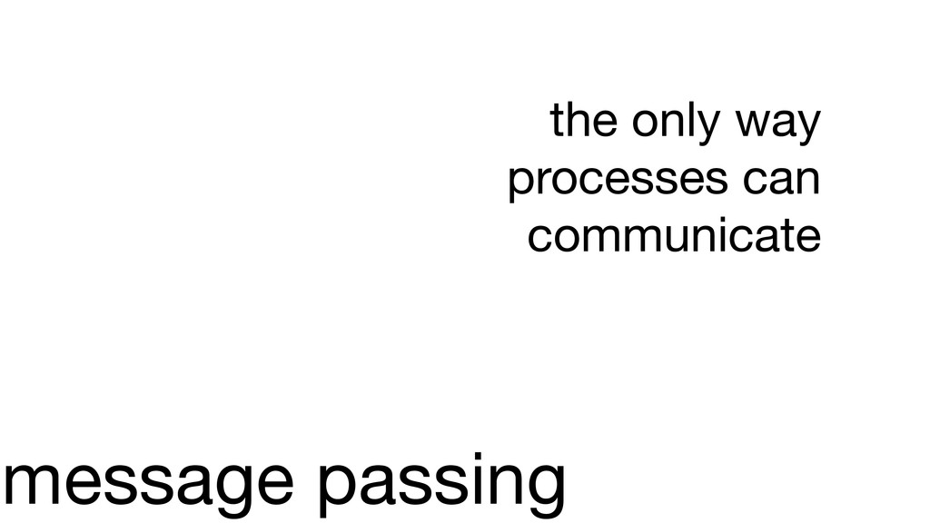 message passing the only way processes can comm...