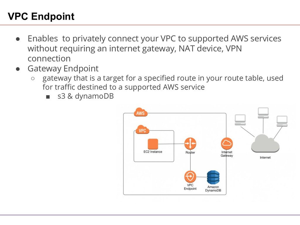VPC Endpoint ● Enables to privately connect you...