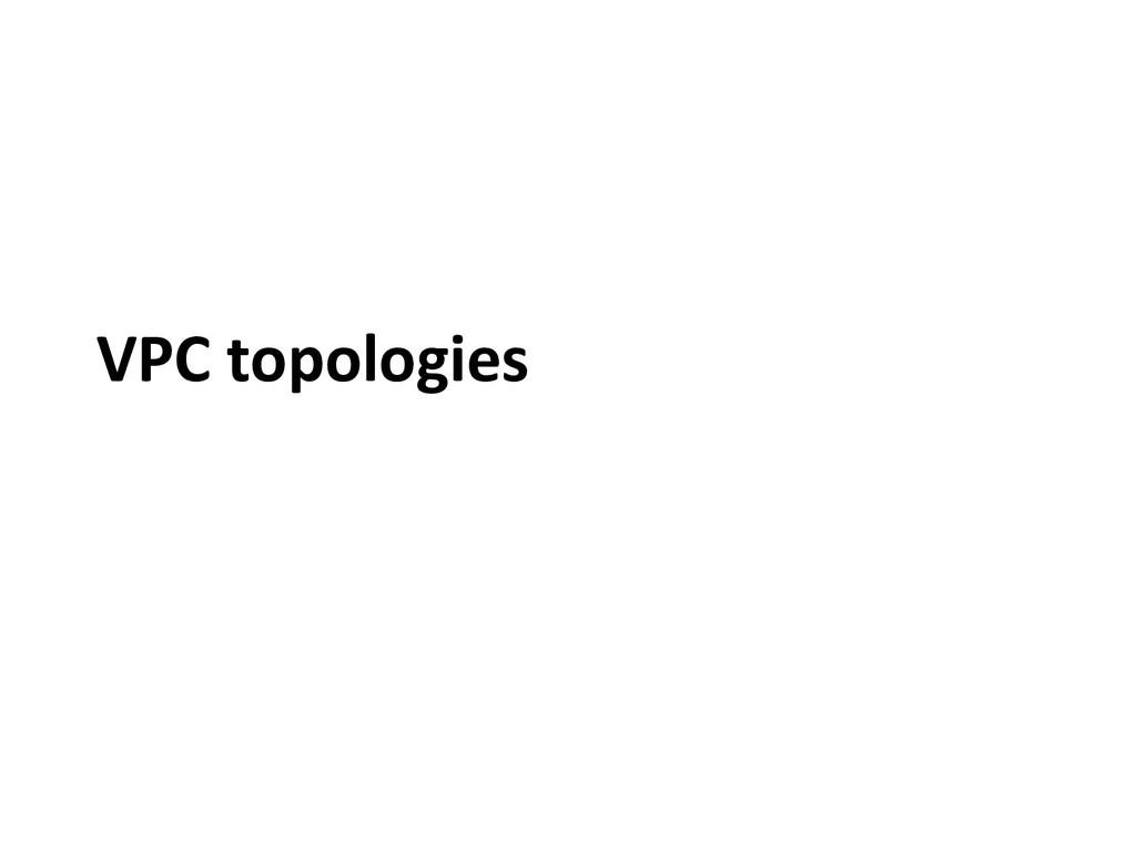VPC topologies