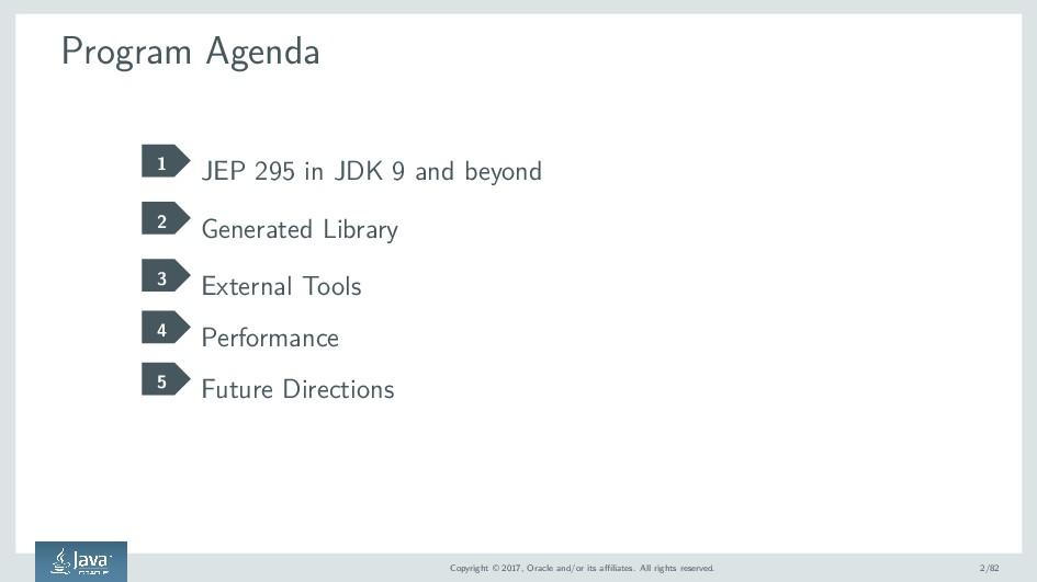 Program Agenda 1 JEP 295 in JDK 9 and beyond 2 ...