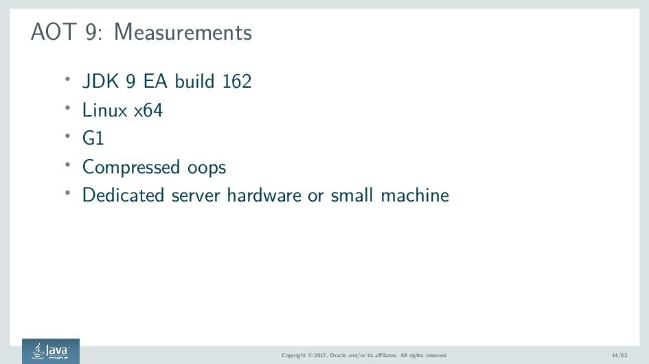 AOT 9: Measurements ' JDK 9 EA build 162 ' Linu...