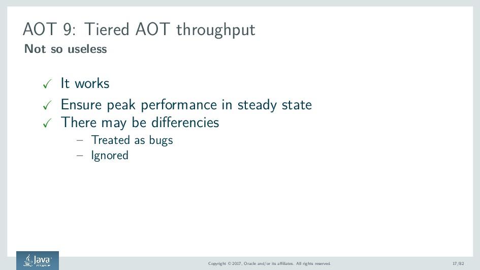AOT 9: Tiered AOT throughput Not so useless It ...