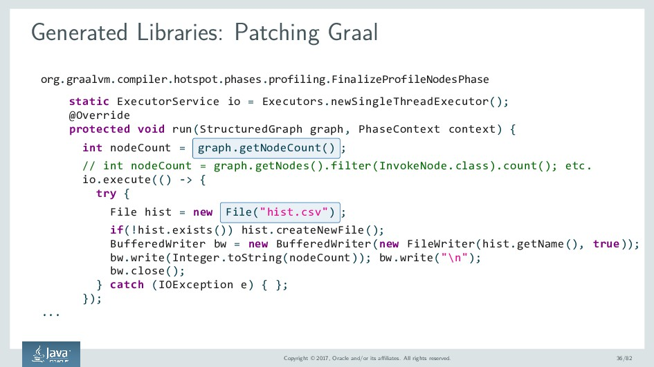 Generated Libraries: Patching Graal org.graalvm...
