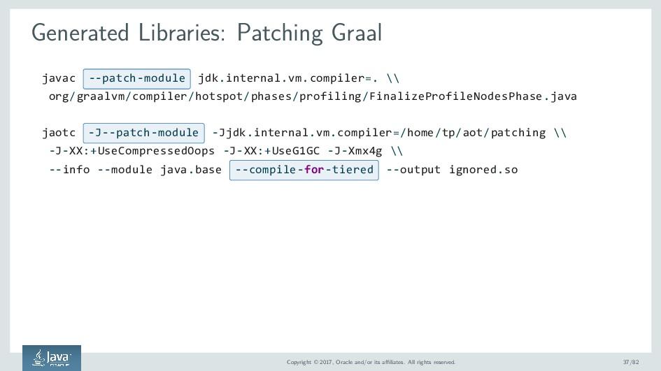 Generated Libraries: Patching Graal javac --pat...
