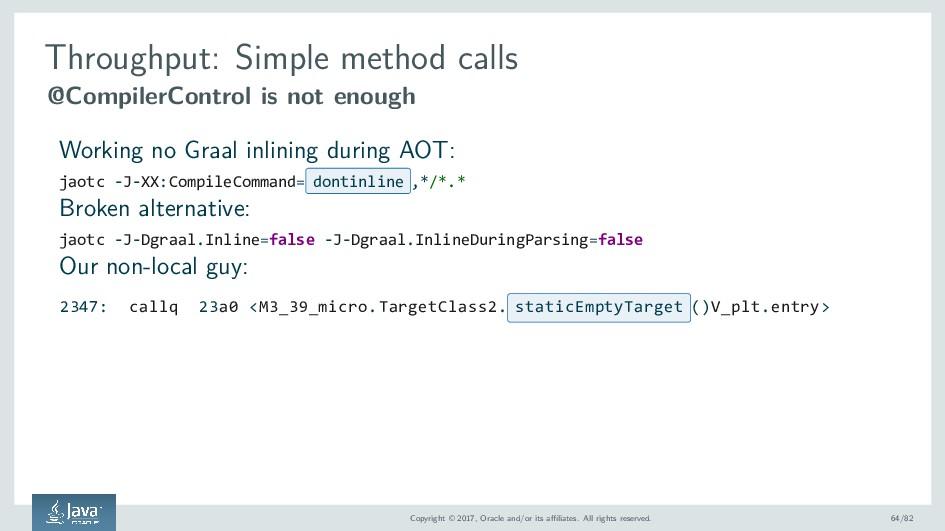 Throughput: Simple method calls @CompilerContro...