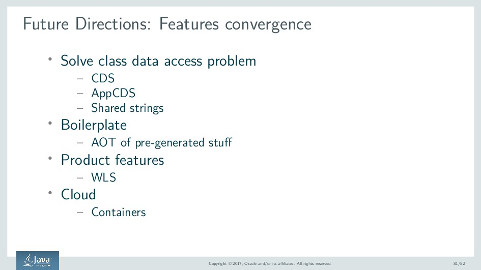 Future Directions: Features convergence ' Solve...