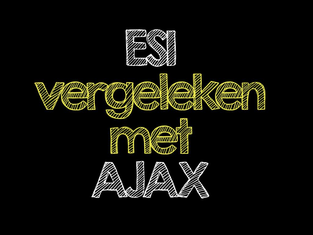 ESI vergeleken met AJAX
