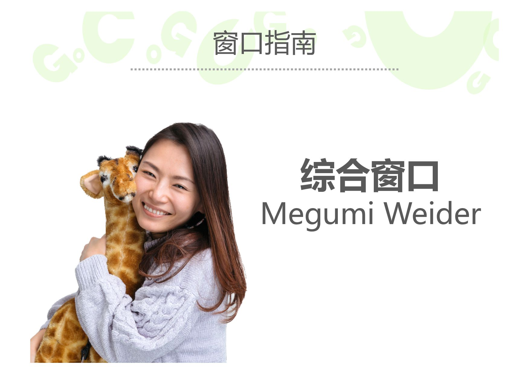 窗口指南 综合窗口 Megumi Weider