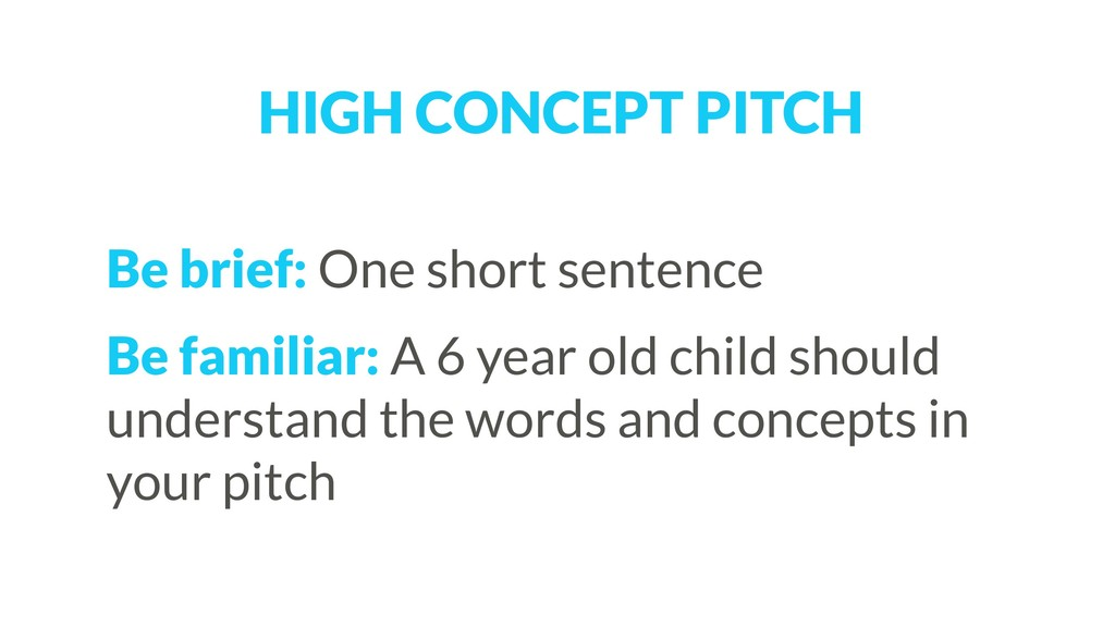 Be brief: One short sentence Be familiar: A 6 y...