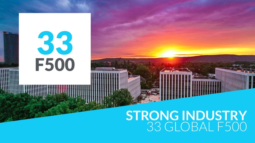 STRONG INDUSTRY 33 GLOBAL F500 33 F500