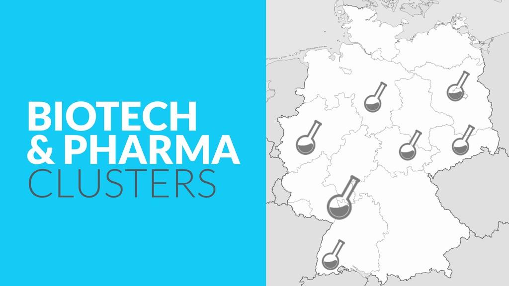 BIOTECH & PHARMA CLUSTERS
