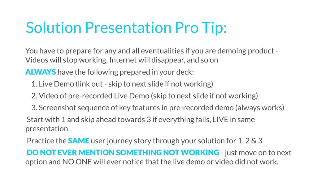 Solution Presentation Pro Tip: You have to prep...