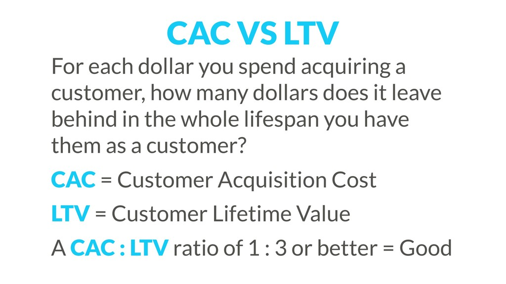 For each dollar you spend acquiring a customer,...