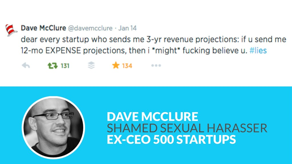 DAVE MCCLURE SHAMED SEXUAL HARASSER EX-CEO 50...