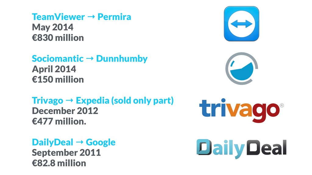 TeamViewer → Permira May 2014 €830 million Soci...