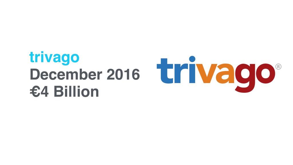 trivago December 2016 €4 Billion