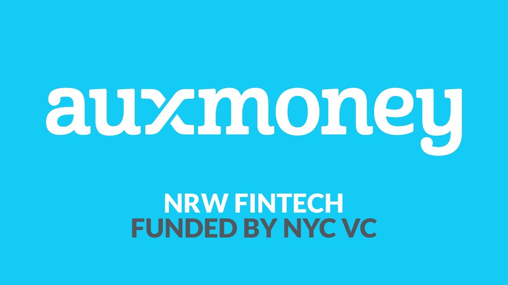 NRW FINTECH FUNDED BY NYC VC