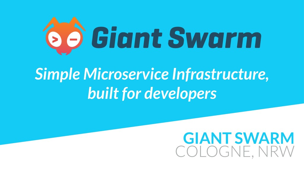GIANT SWARM COLOGNE, NRW Simple Microservice In...