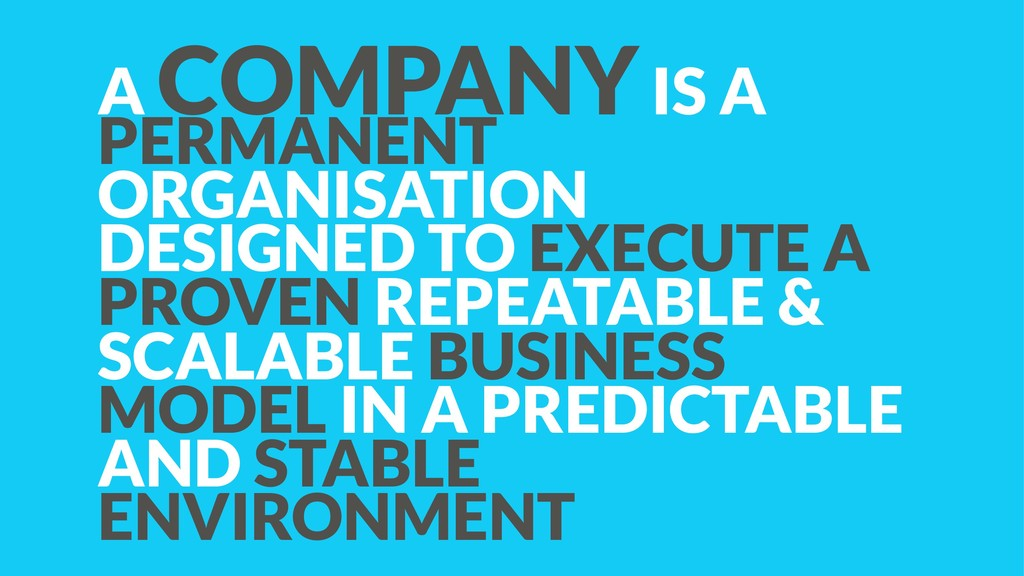 A COMPANY IS A PERMANENT ORGANISATION DESIGNED ...