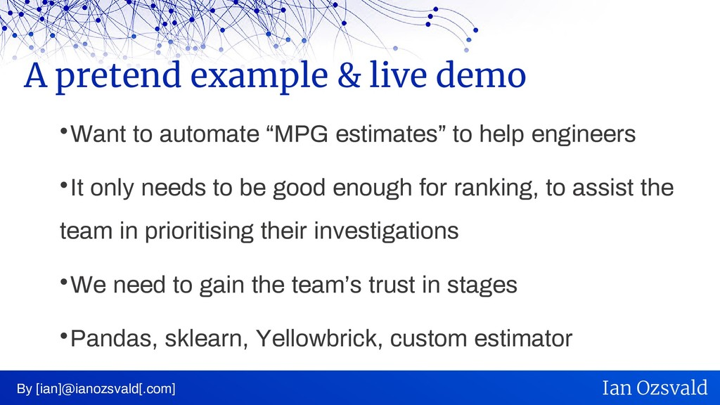 """ Want to automate """"MPG estimates"""" to help engi..."""