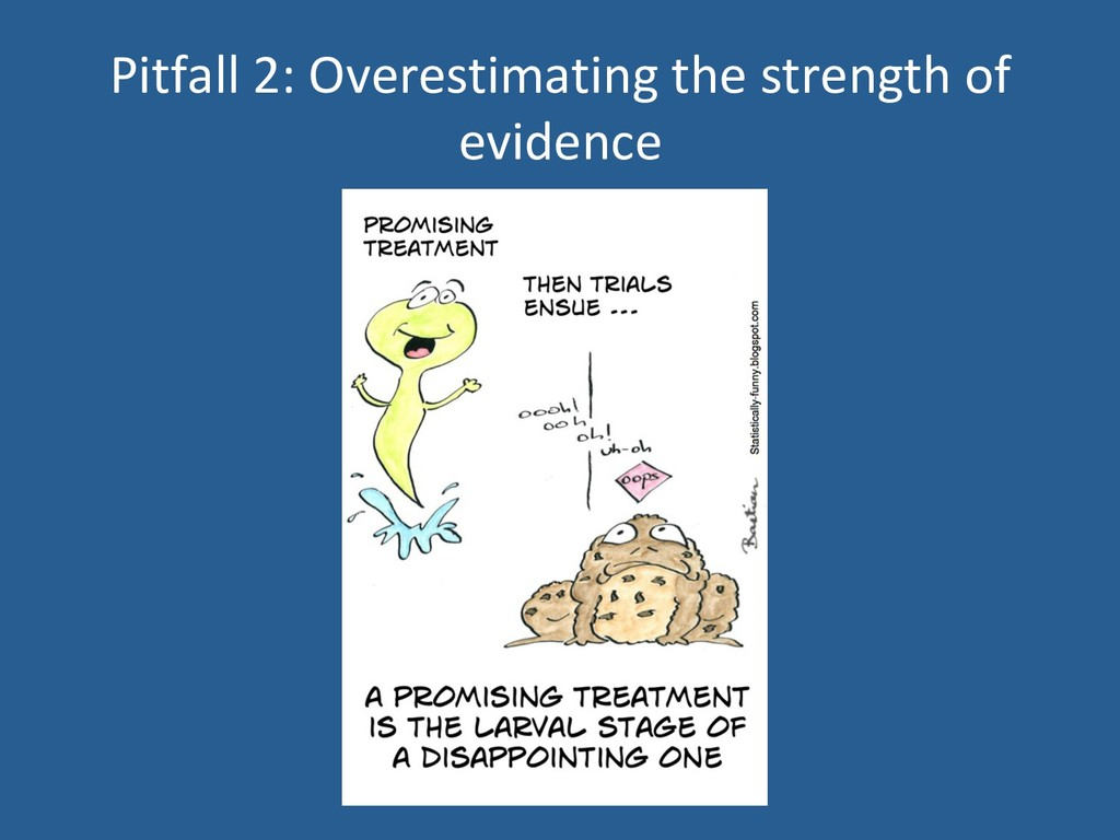 Pitfall 2: Overestimating the strength of evide...
