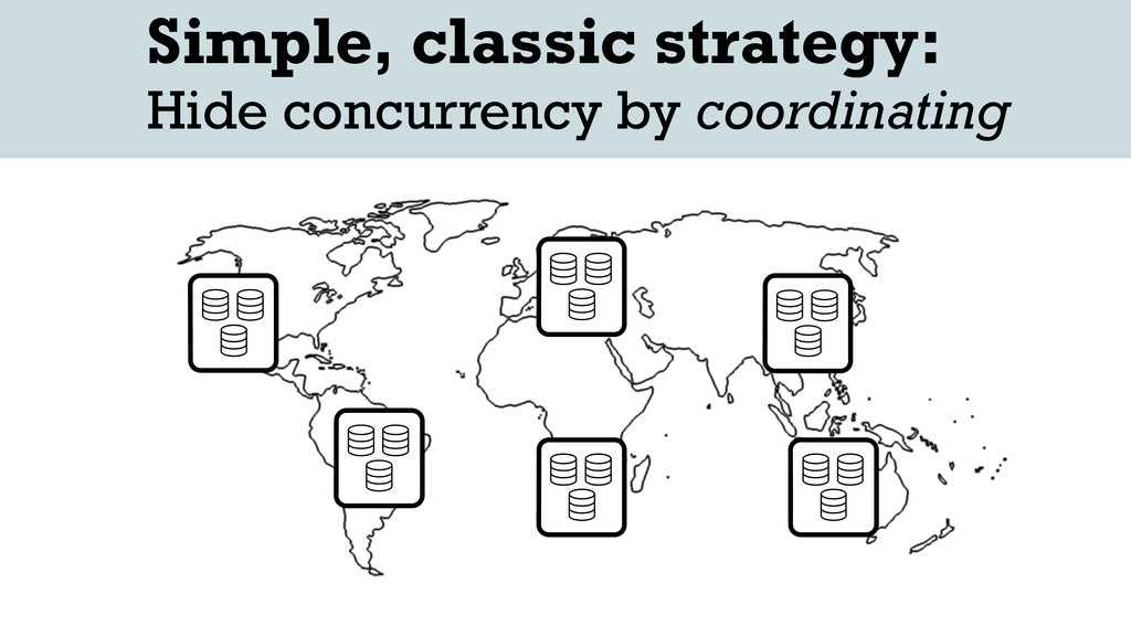Simple, classic strategy: Hide concurrency by c...