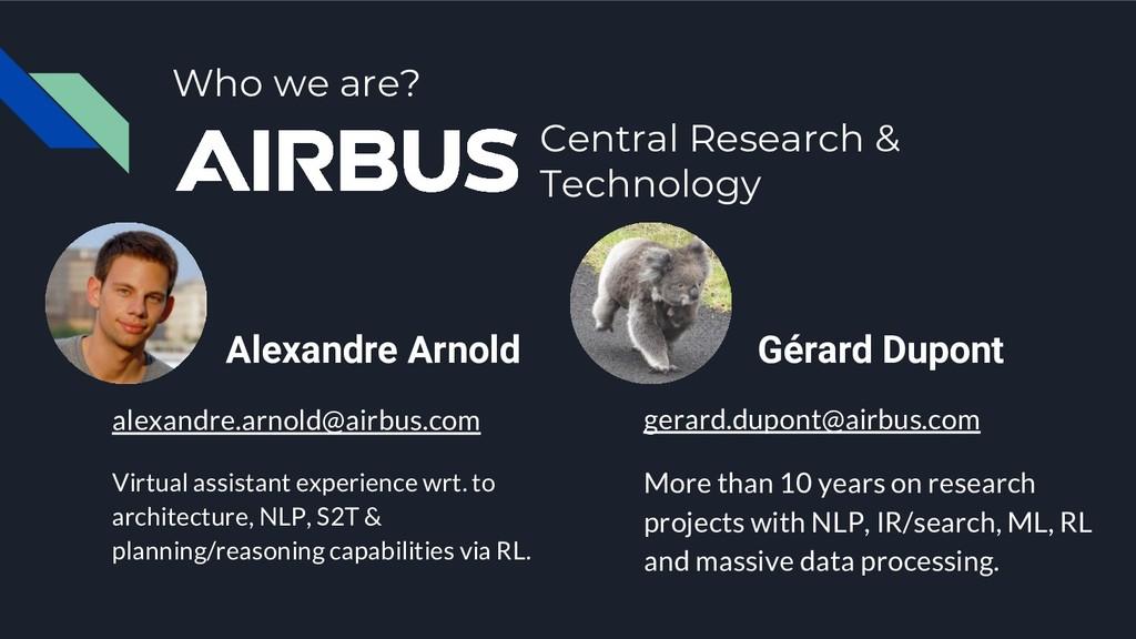 Gérard Dupont gerard.dupont@airbus.com More tha...