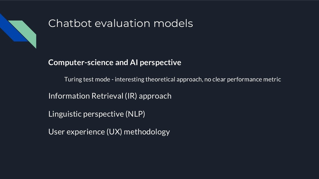 Chatbot evaluation models Computer-science and ...