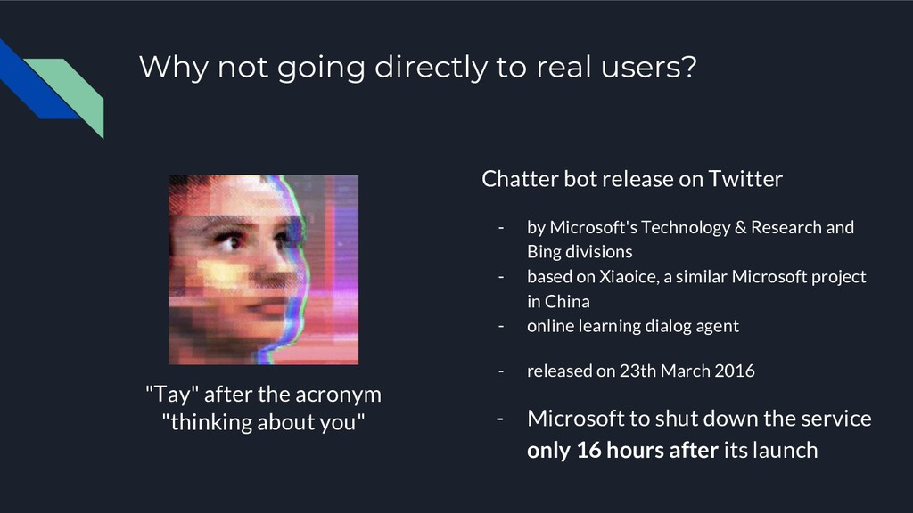 Why not going directly to real users? Chatter b...