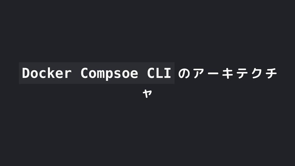 Docker Compsoe CLI のアーキテクチ ャ