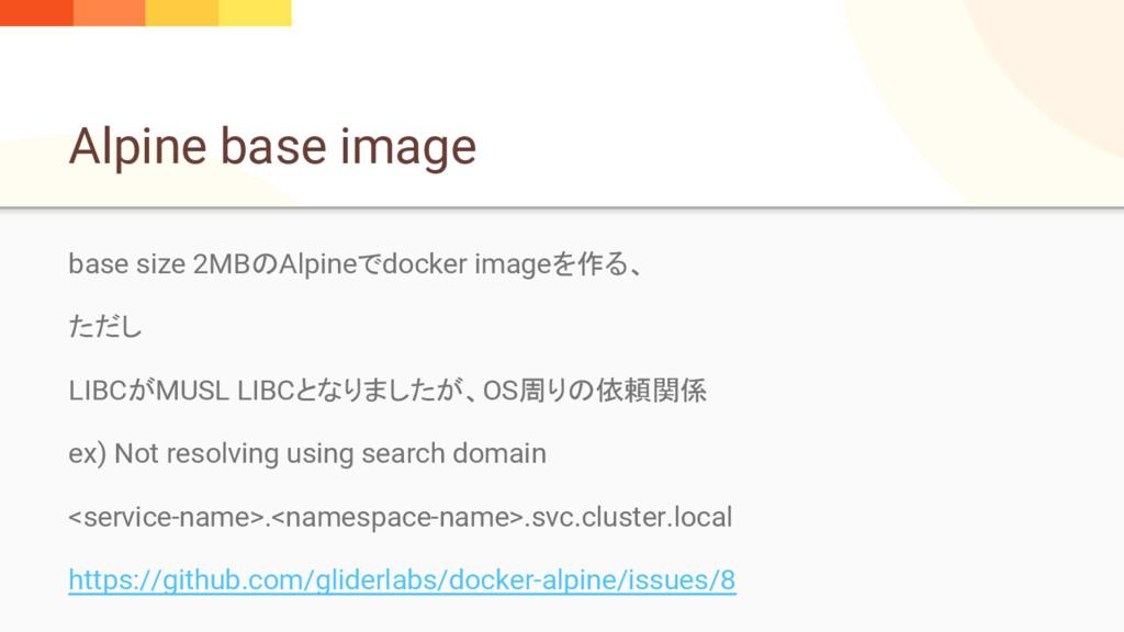 Alpine base image base size 2MBのAlpineでdocker i...