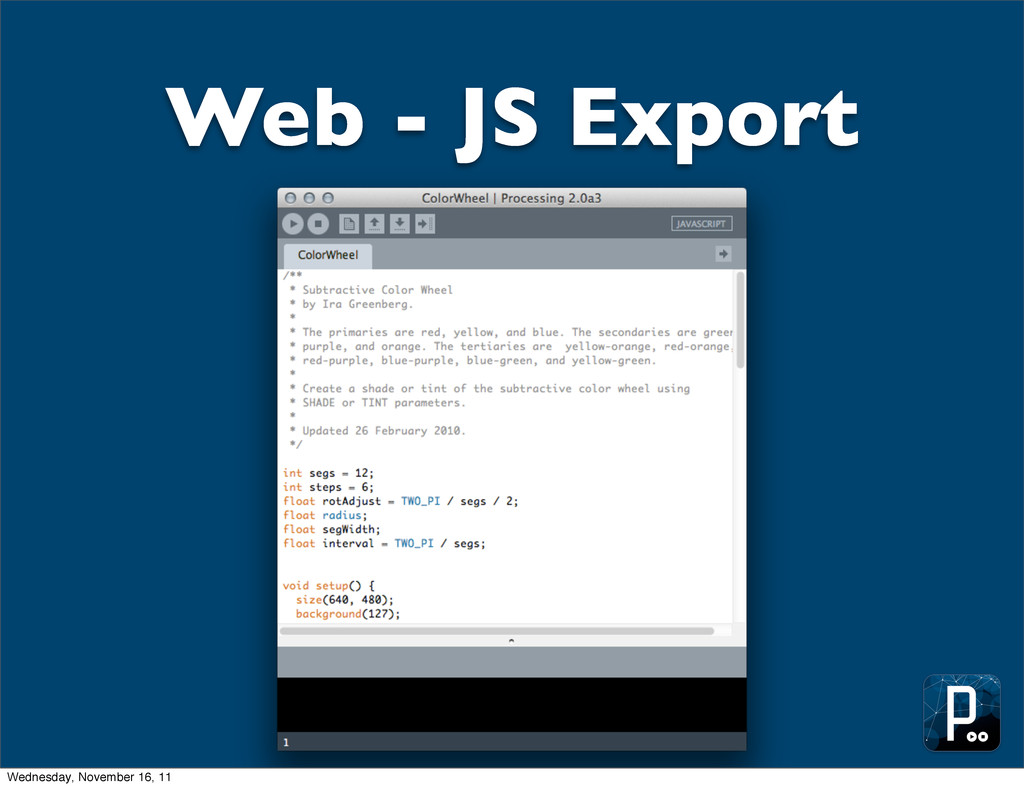 Web - JS Export Wednesday, November 16, 11