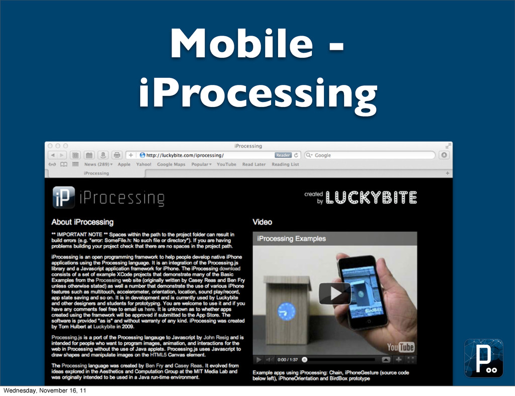 Mobile - iProcessing Wednesday, November 16, 11