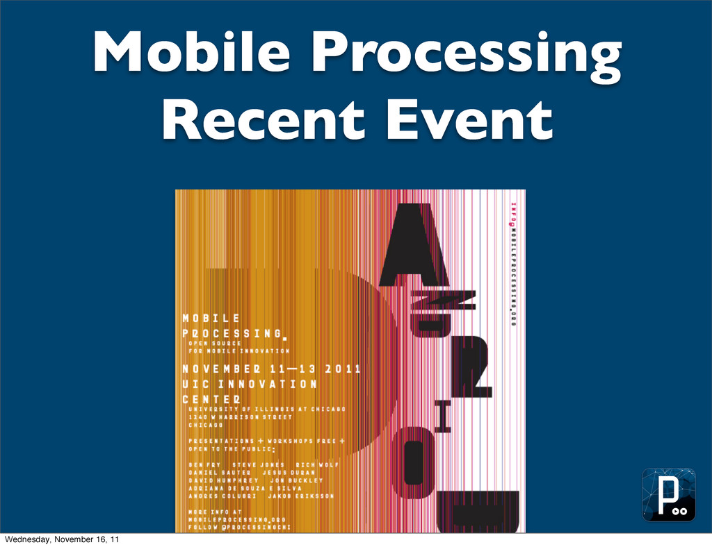 Mobile Processing Recent Event Wednesday, Novem...