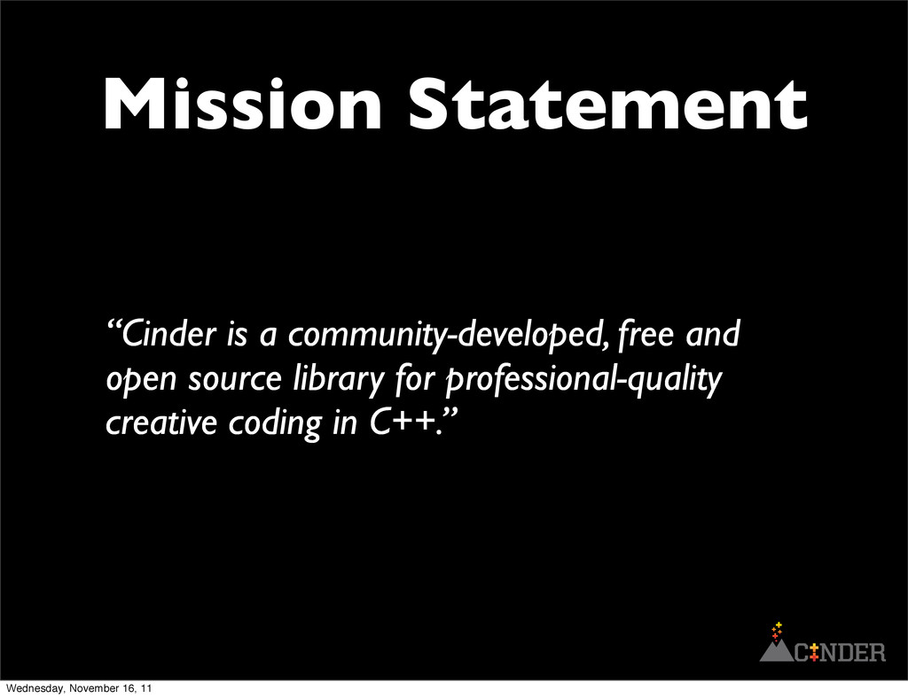 """Cinder is a community-developed, free and open..."