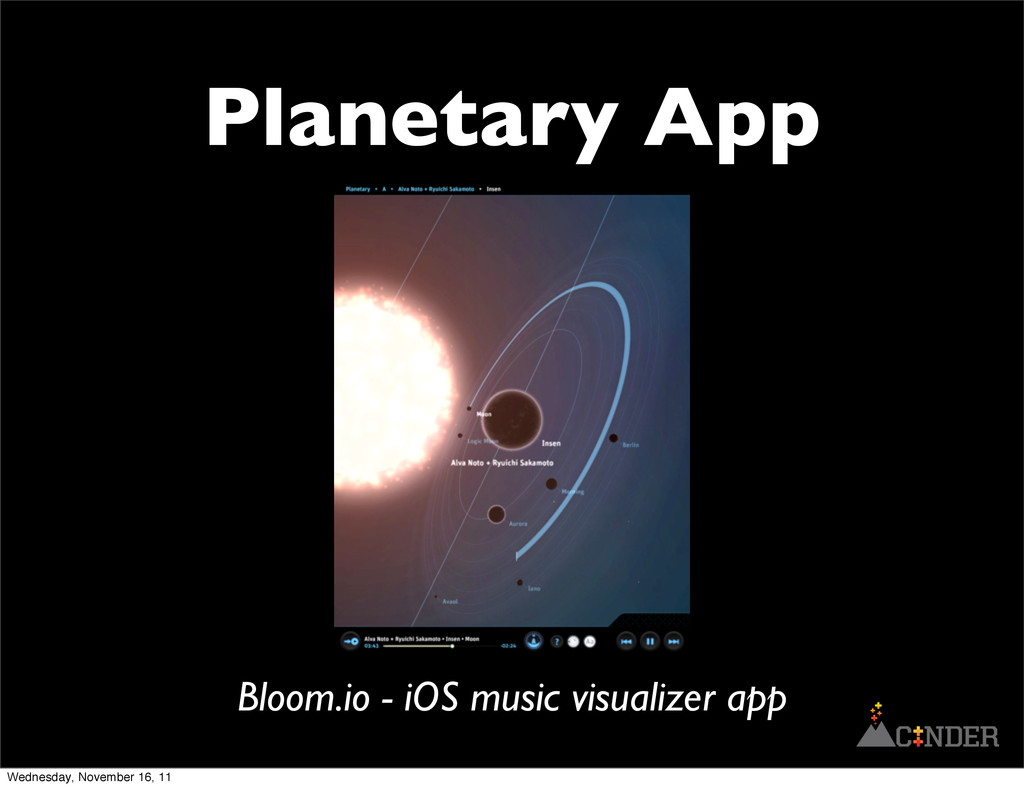 Planetary App Bloom.io - iOS music visualizer a...