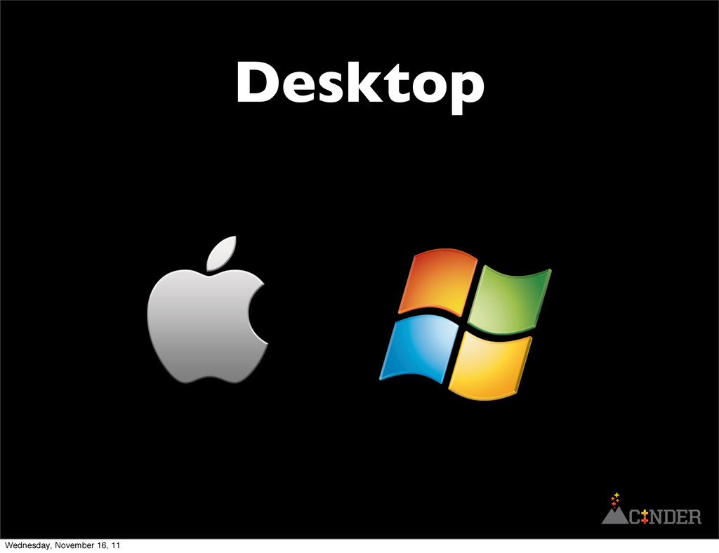 Desktop Wednesday, November 16, 11