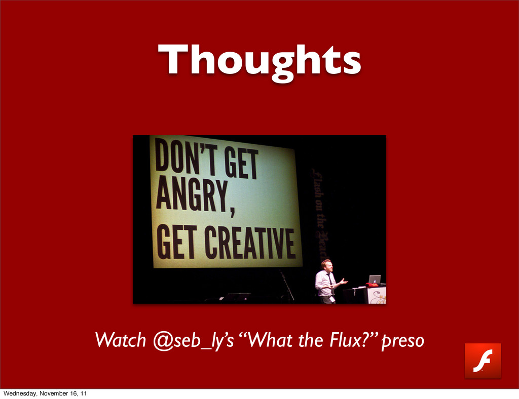 "Thoughts Watch @seb_ly's ""What the Flux?"" preso..."