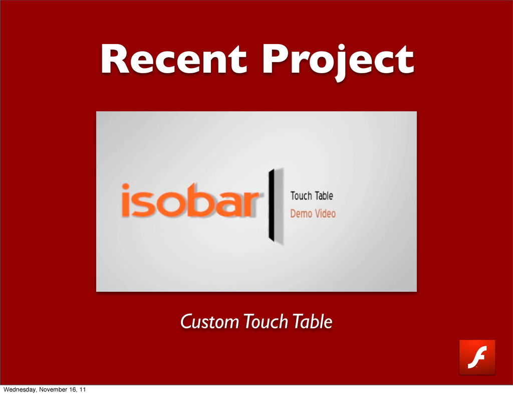 Recent Project Custom Touch Table Wednesday, No...