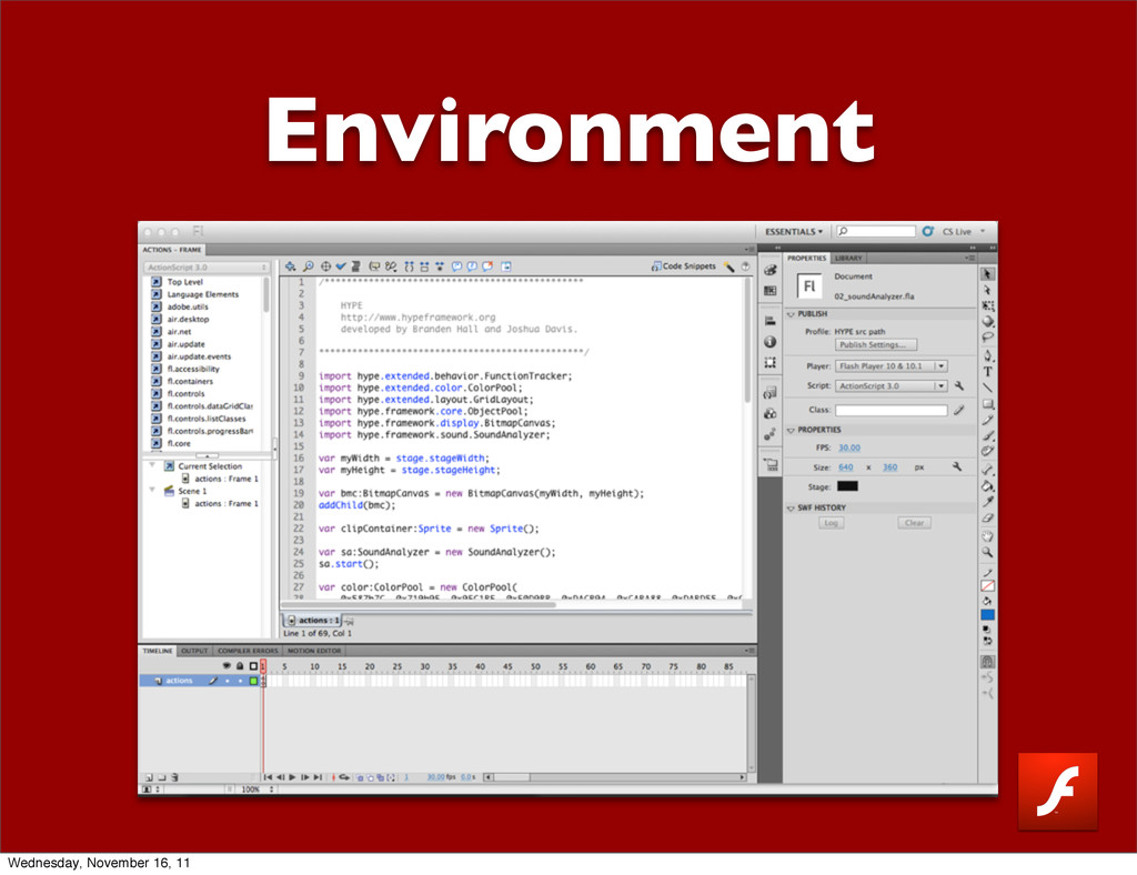 Environment Wednesday, November 16, 11
