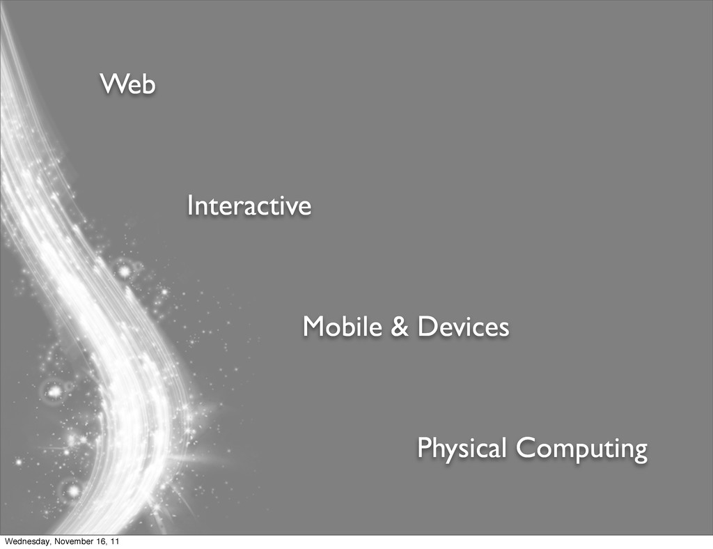 Web Interactive Mobile & Devices Physical Compu...